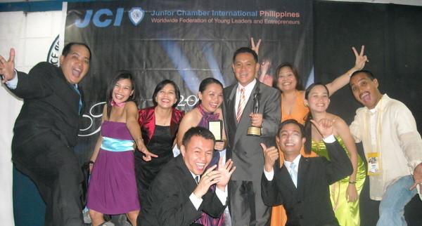 2008 President Jolex Lim adding two more National Awards to JCI Cebu-Mactan Channel's storied history